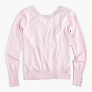 J.Crew Wrapped Back Pullover Sweater Merino Wool